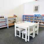 Espace de tavail : école Montessori International Bordeaux