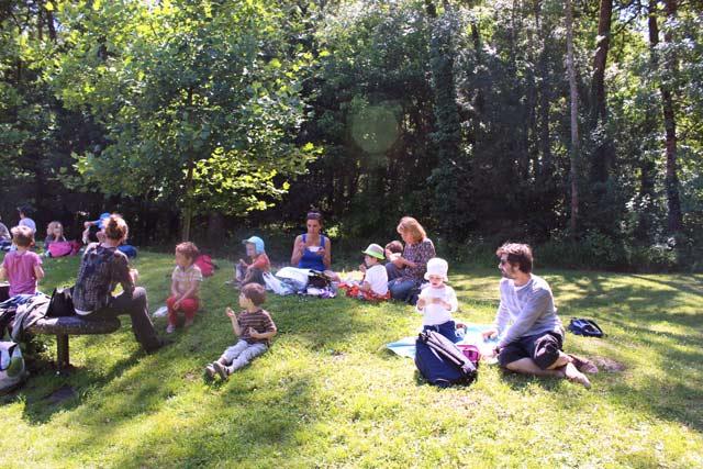 lunch - parc Majolan - école Montessori Internationale Bordeaux