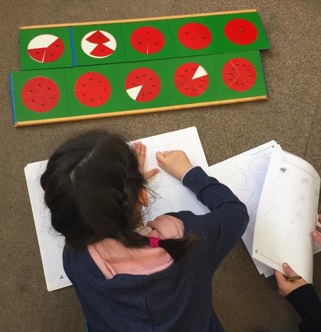 fractions montessori