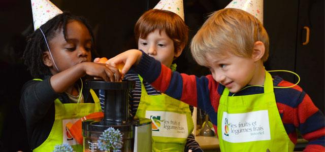 Fruits et légumes à l'école Montessori