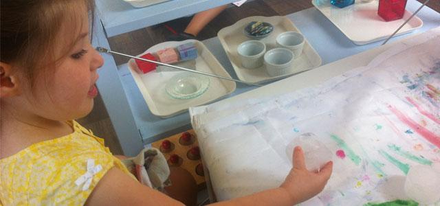 Experiment in the Montessori kindergarten class