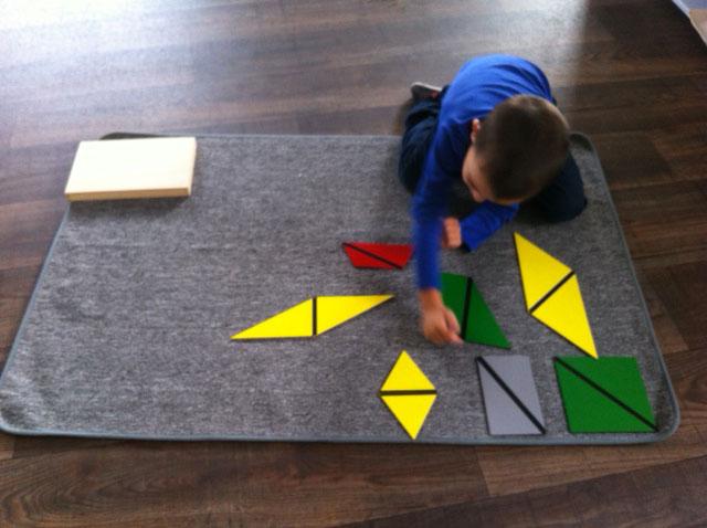 triangles constructeurs sensoriel bordeaux montessori