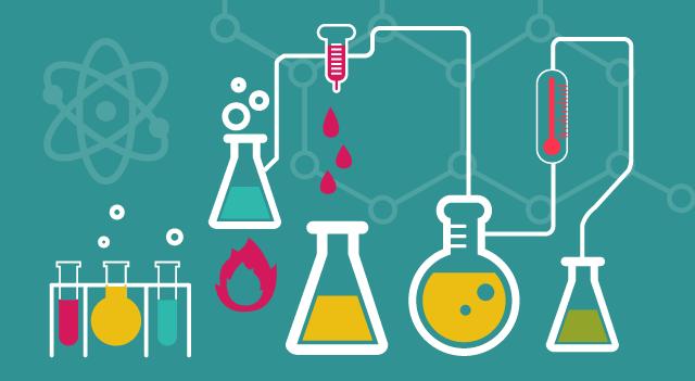 Montessori International Bordeaux : sciences, expérience en chimie. Le laboratoire