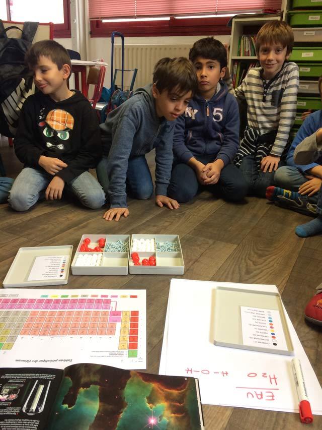 Montessori International Bordeaux : sciences atomes et molécules