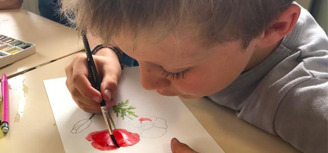 L'aquarelle à MIB (Montessori International Bordeaux)